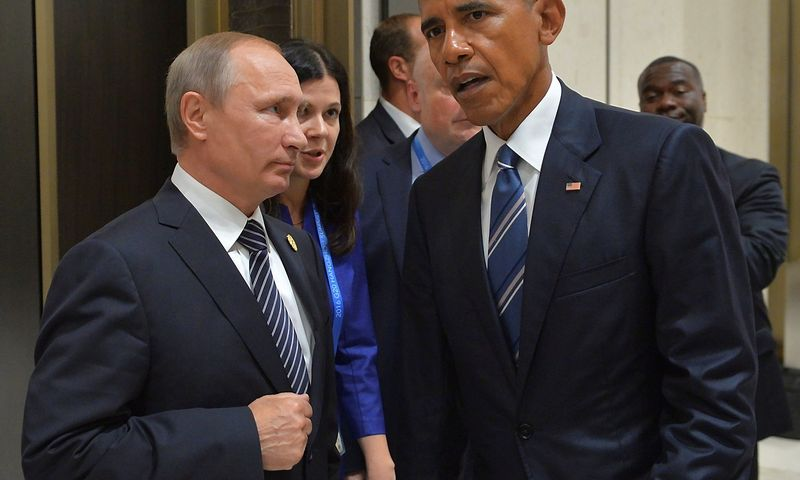 Vladimiras Putinas, Barackas Obama. Alexei Druzhinino (Reuters / Scanpix) nuotr.