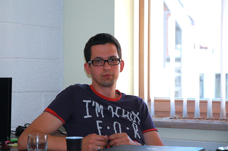 """Tadas Deksnys, vienas iš JAV bendrovės """"Unboxed"""" steigėjų. Živilės Barkauskaitės (VŽ) nuotr."""