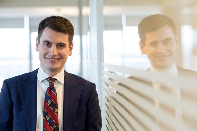 """Rokas Grajauskas, """"Danske Bank"""" vyriausiasis ekonomistas Baltijos šalims: """"Įmonės įtikėjo, jog gana taupyti, kaupti juodai dienai, o reikia vėl prisiimti daugiau rizikos ir pradėti investuoti."""" Vladimiro ivanovo (VŽ) nuotr."""