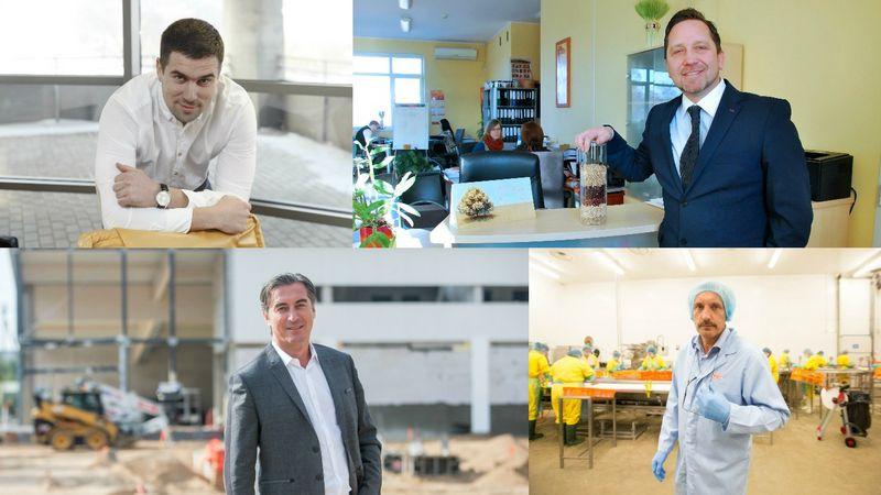 """Iš kairės: Aurimas Bagdanavičius, UAB """"Foksas"""" direktorius, Arminas Kildišis, UAB """"Agrosfera"""" direktorius, Rytis Kanapėnas, UAB """"Projesta Group"""" direktorius, ir Arvidas Mačiuitis, UAB """"Baltic Food Partners"""" direktorius. VŽ montažas"""