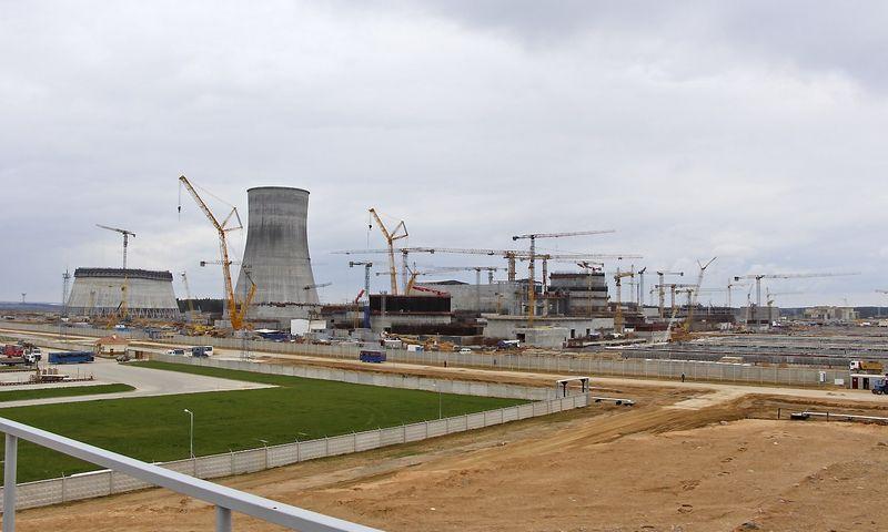 """Branduolinės jėgainės Astrave, Baltarusijoje, statybos. """"15min."""" / """"Scanpix"""" nuotr."""