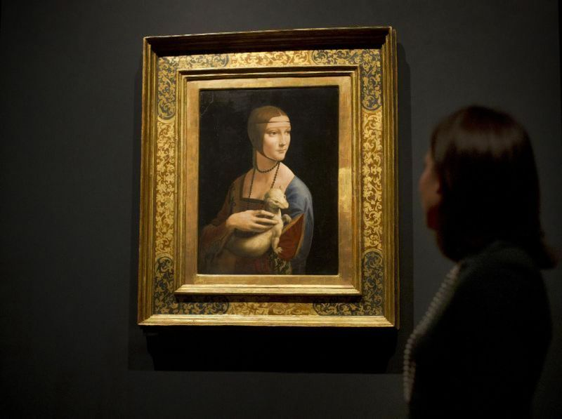 """Dama su šermuonėliu"" – italų renesanso dailininko Leonardo da Vinci nutapytas portretas  1489?1490 m.  ""Reuters""/""Scanpix"" nuotr."