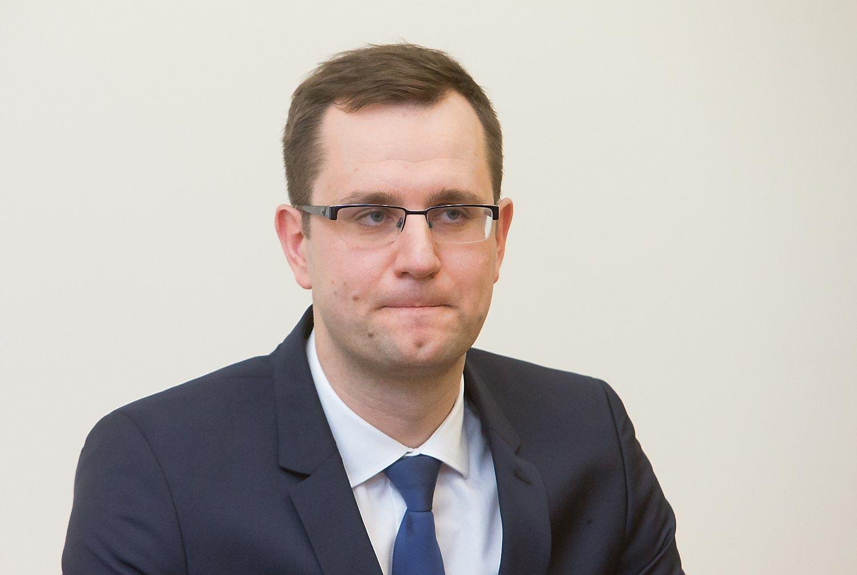 """AB """"Lietuvos geležinkeliai"""" generalinis direktorius Mantas Bartuška. Juditos Grigelytės (VŽ) nuotr."""