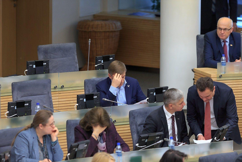 Teisininkai kerta per valstiečių-žaliųjų idėją mažinti Seimo narių skaičių