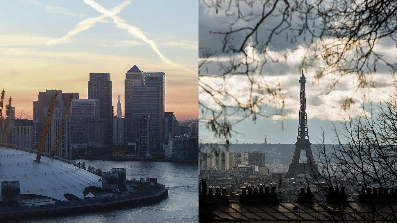 Londono bankininkus vilioja ir Paryžius
