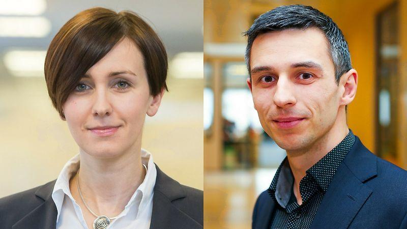 """Rugilė Andziukevičiūtė-Buzė (VŽ nuotr.) ir Ramūnas Burokas (15min"""" / """"Scanpix"""" nuotr.)."""
