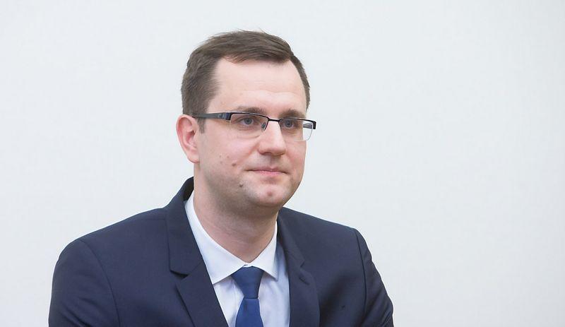 """Mantas Bartuška, AB """"Lietuvos geležinkeliai"""" generalinis direktorius. Juditos Grigelytės (VŽ) nuotr."""