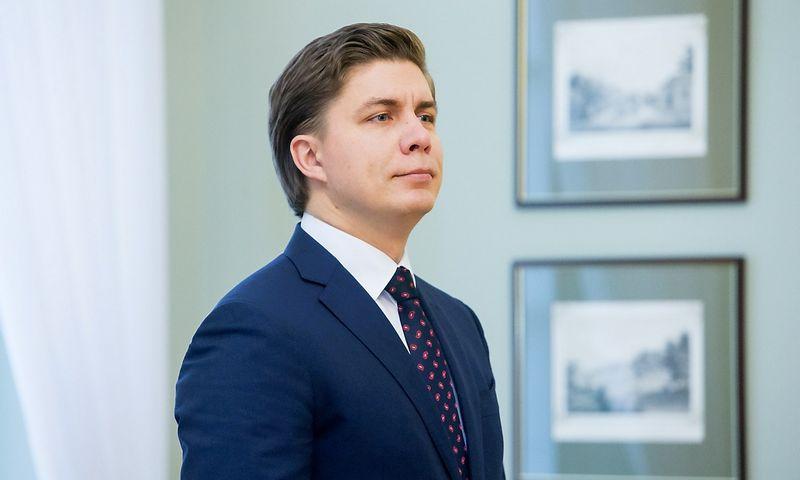 Mindaugas Sinkevičius , ūkio ministras.  Juditos Grigelytės (VŽ) nuotr.