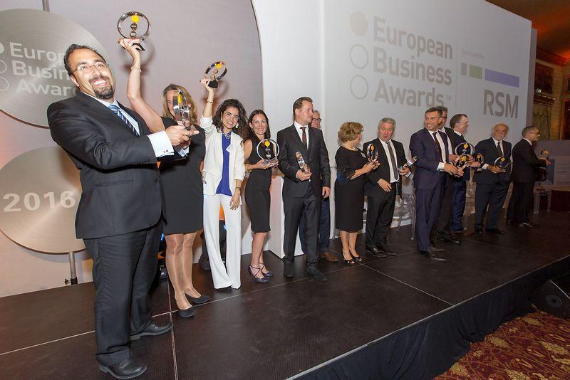 European Business Awards nugalėtojų apdovanojimo ceremonija 2016 m. Konkurso organizatorių nuotr.