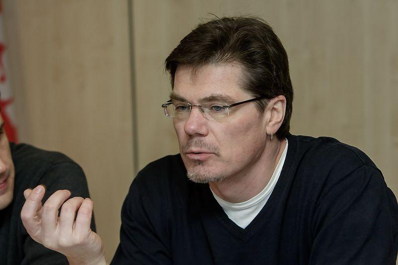 Doc. Robertas Jucaitis, Vilniaus dailės akademijos Grafinio dizaino katedros meno licenciatas, bakalauro studijų vadovas. Vladimiro Ivanovo (VŽ) nuotr.