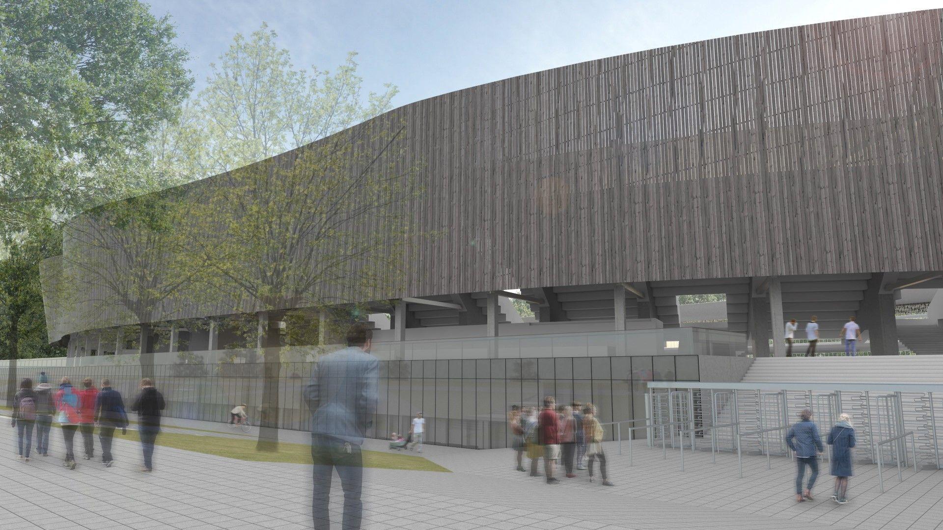 Senus Kauno stadiono griaučius paslėps medžiu