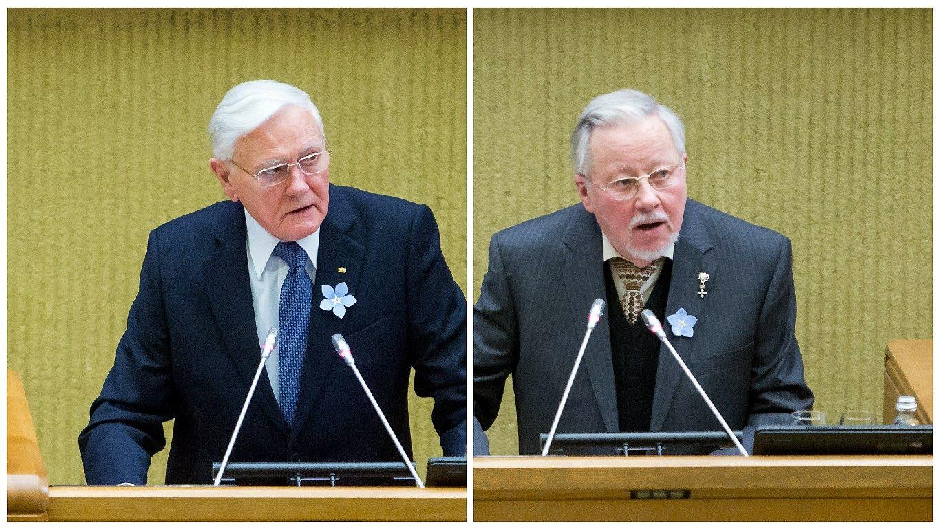 Laisvės premijos įteiktos Vytautui Landsbergiui ir Valdui Adamkui