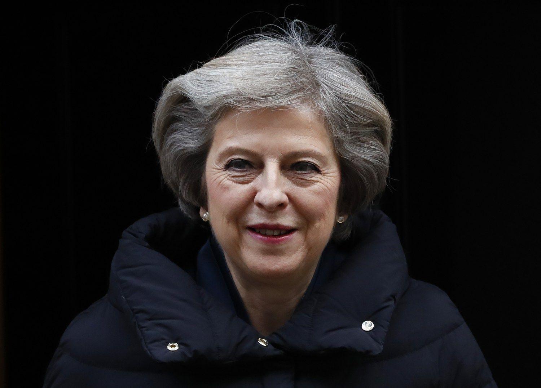 """Theresa May pateiks savo """"Brexit"""" viziją"""