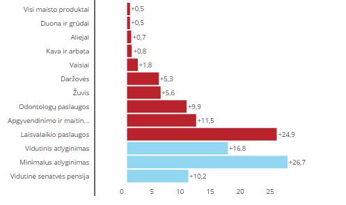 Dveji metai su euru: tarp kainų ir pajamų žirklių