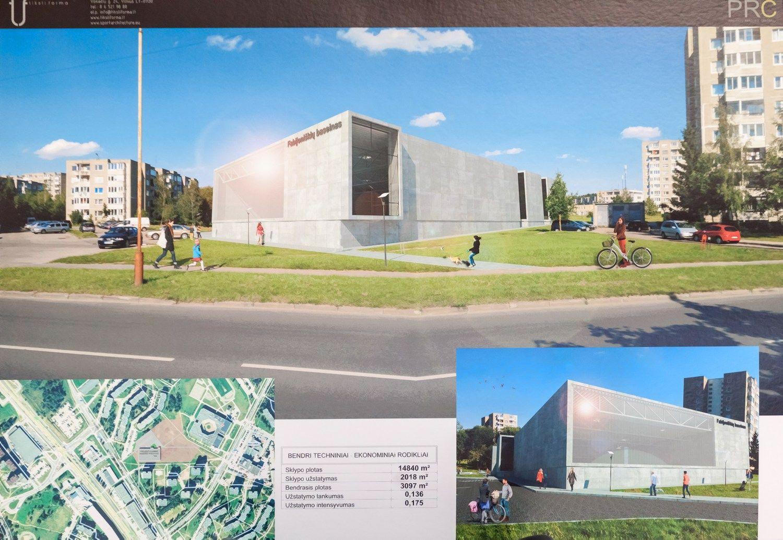 Paskelbtas baseino Vilniuje statybos konkursas