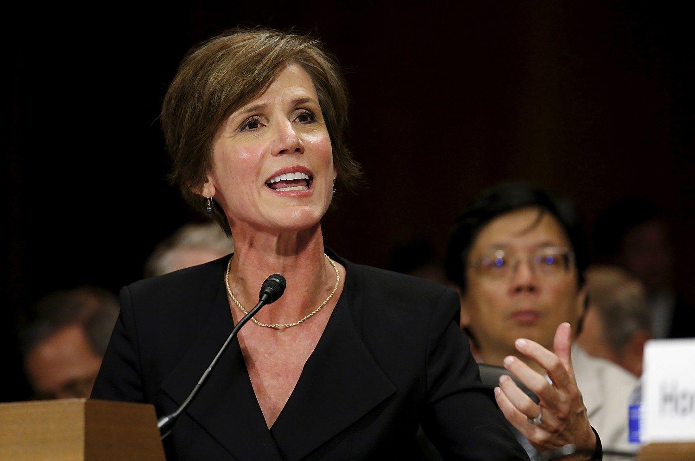 JAV generalinė prokurorė atsisakė užtarti naują politiką, Trumpas ją atleido