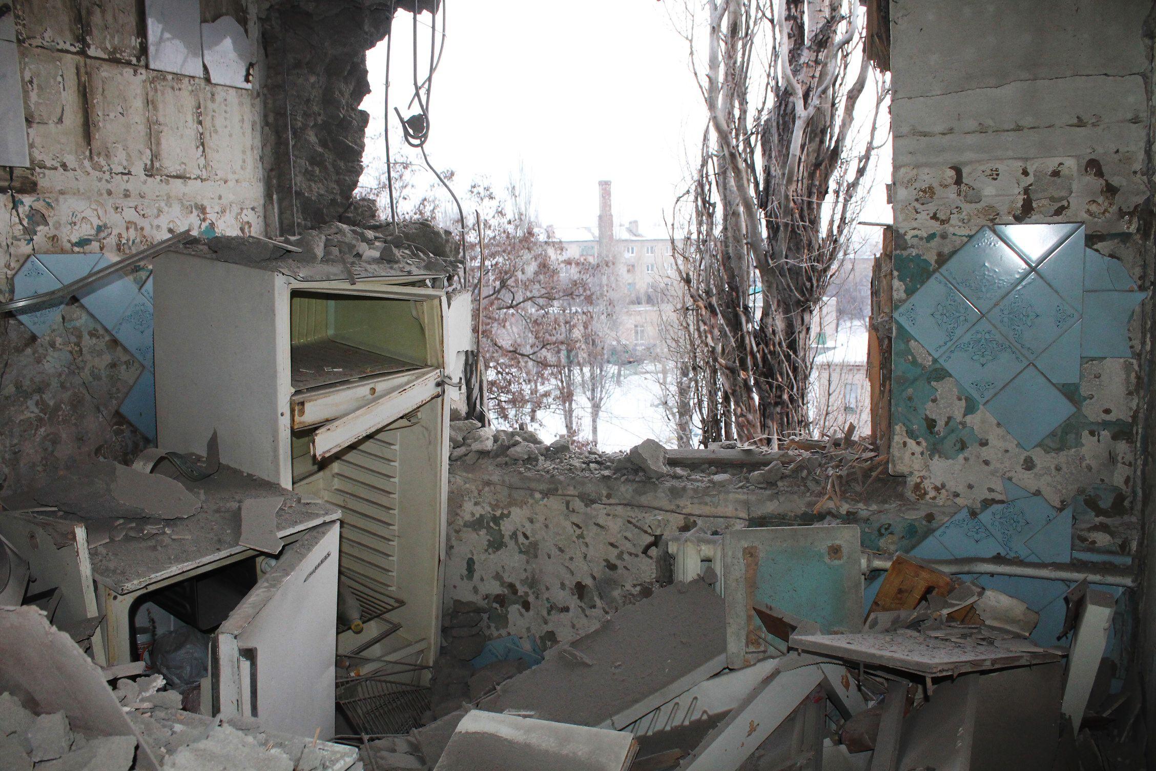 Iš apšaudomo Rytų Ukrainos miesto evakuojami žmonės
