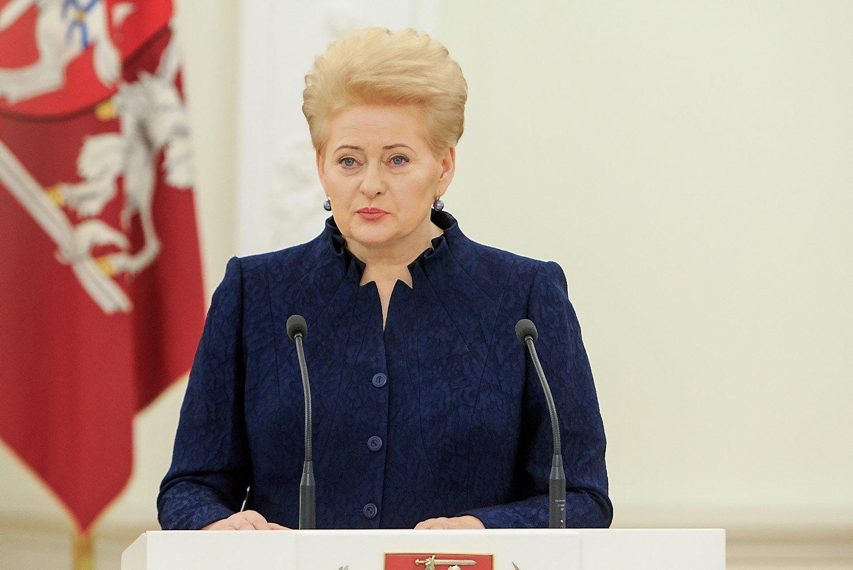 Prezidentė: NATO įrodo, kad yra stipri ir vieninga