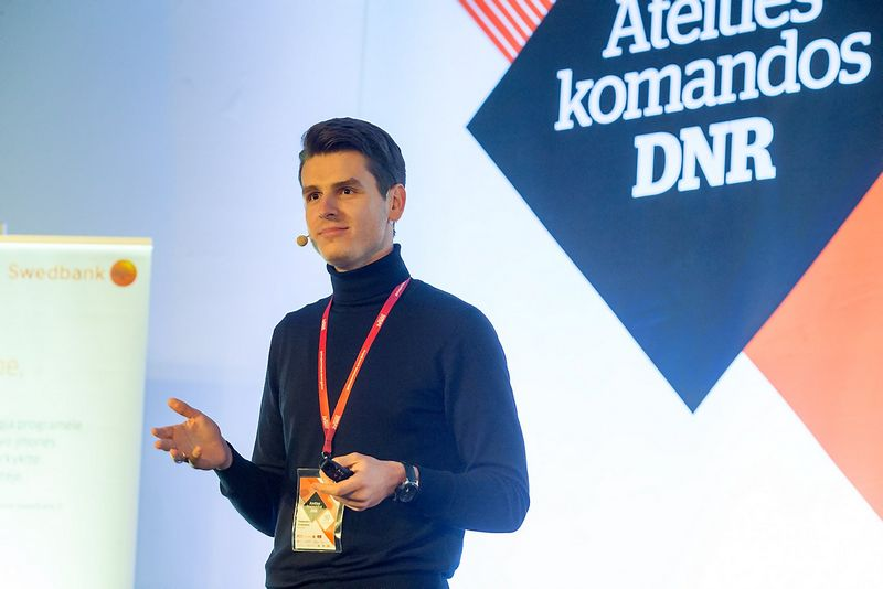 """Daumantas Dvilinskas, """"TransferGo"""" įkūrėjas. Vladimiro Ivanovo (VŽ) nuotr."""