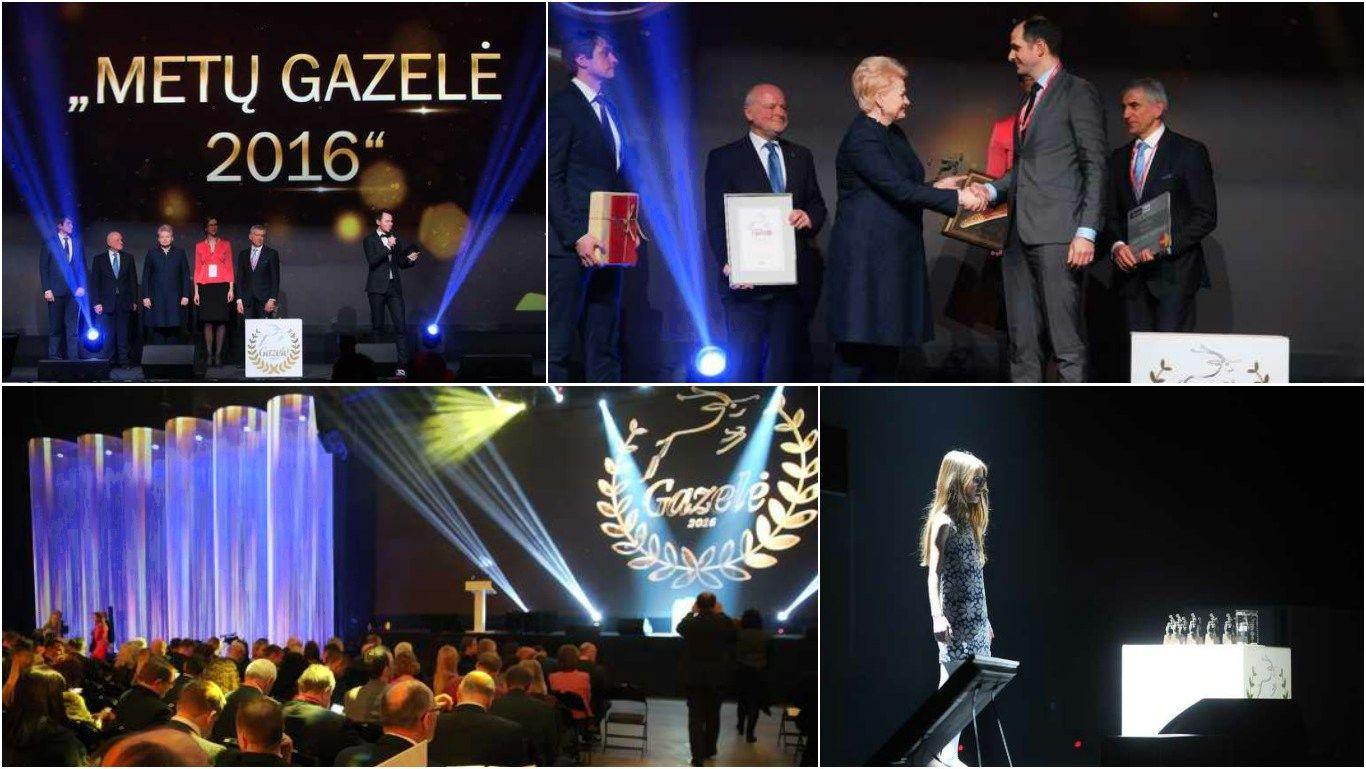 """""""Gazelė 2016"""": apdovanotos sparčiausiai augusios bendrovės"""