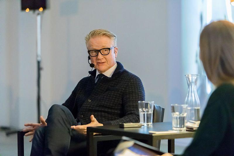 """Davidas Robertsas, vienas svarbiausių Didžiosios Britanijos meno kolekcininkų, DRAF meno fondo įkūrėjas, verslininkas. """"Rupert"""" centro nuotr."""