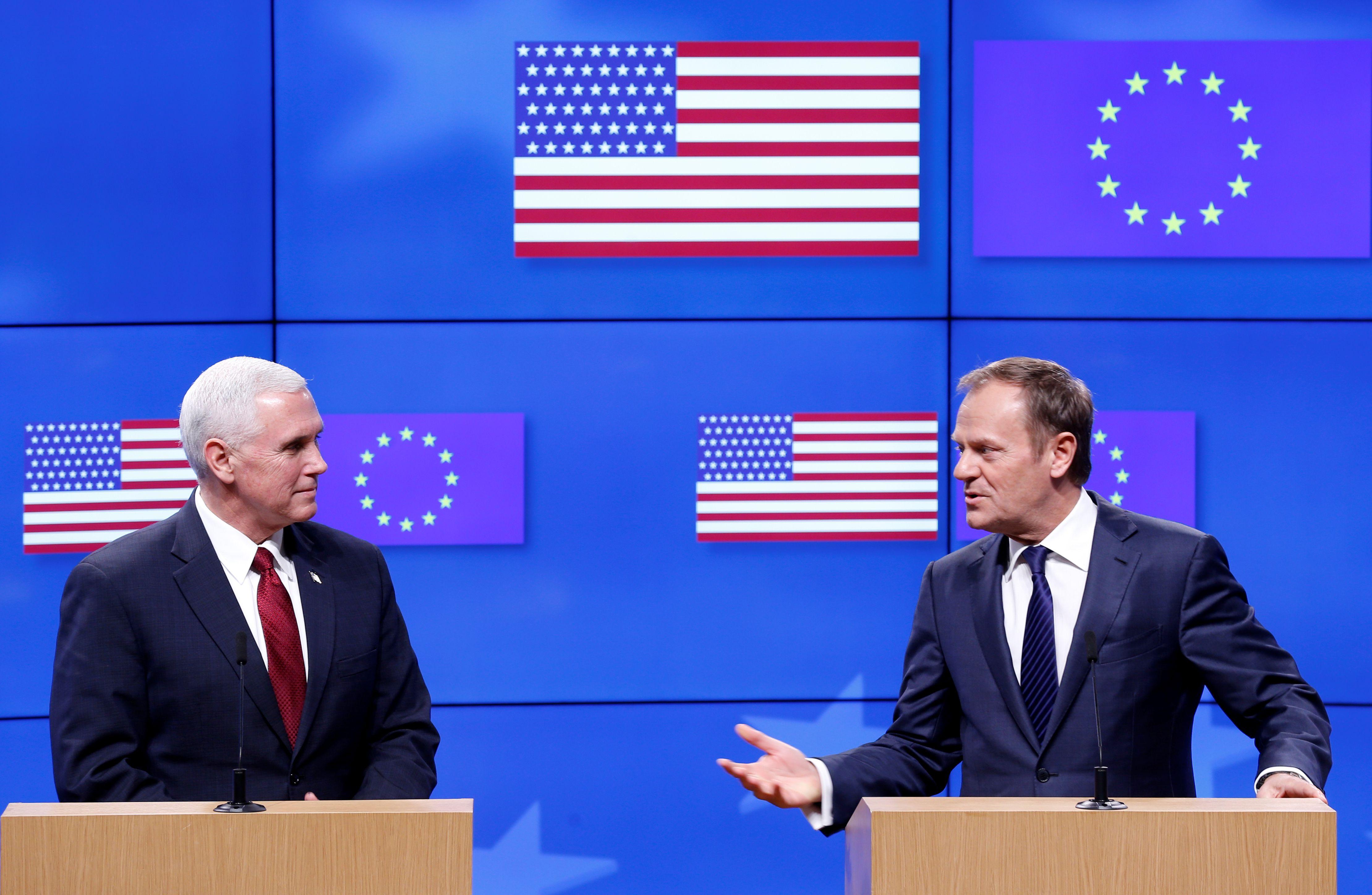 Tuskas: JAV viceprezidento palaikymas – gerai, bet reikalai nėra kaip buvę