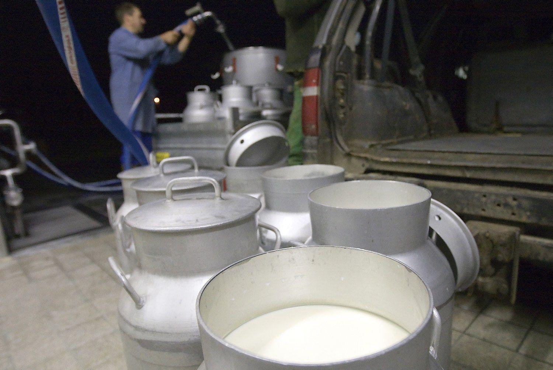 Perdirbėjai pieno iš šalies ūkininkų pirko mažiau