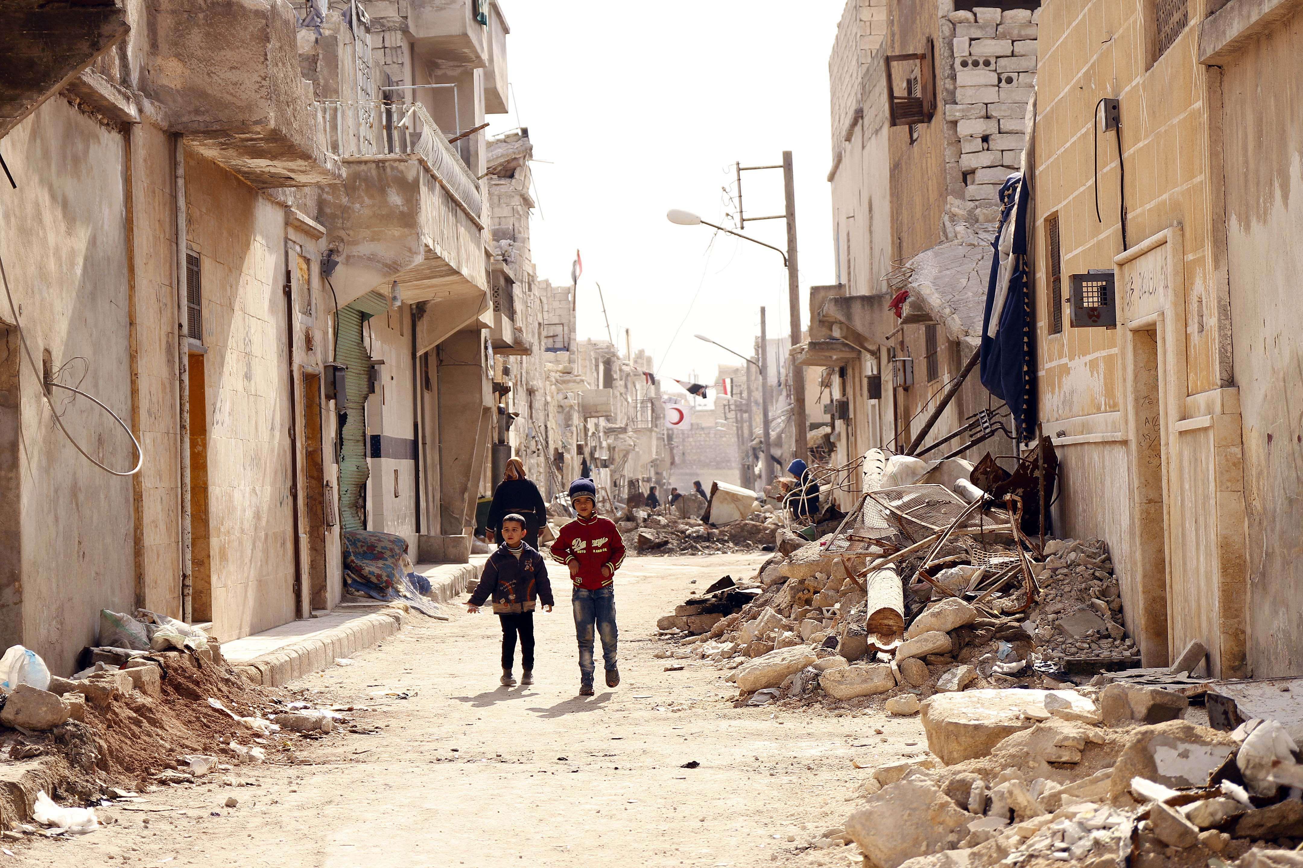 Rusija Vakarams: atstatykite sugriautą Siriją