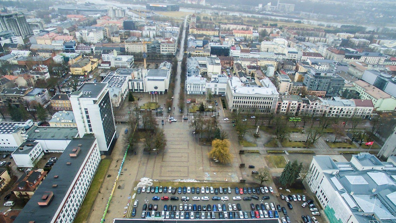 Atgimė požeminio automobilių statymo po Kauno Vienybės aikšte projektas