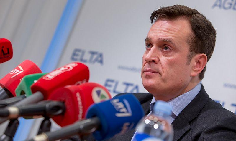 Iš Valstybinės mokesčių inspekcijos (VMI) viršininko pareigų atleistas Dainoras Bradauskas. Vladimiro Ivanovo (VŽ) nuotr.