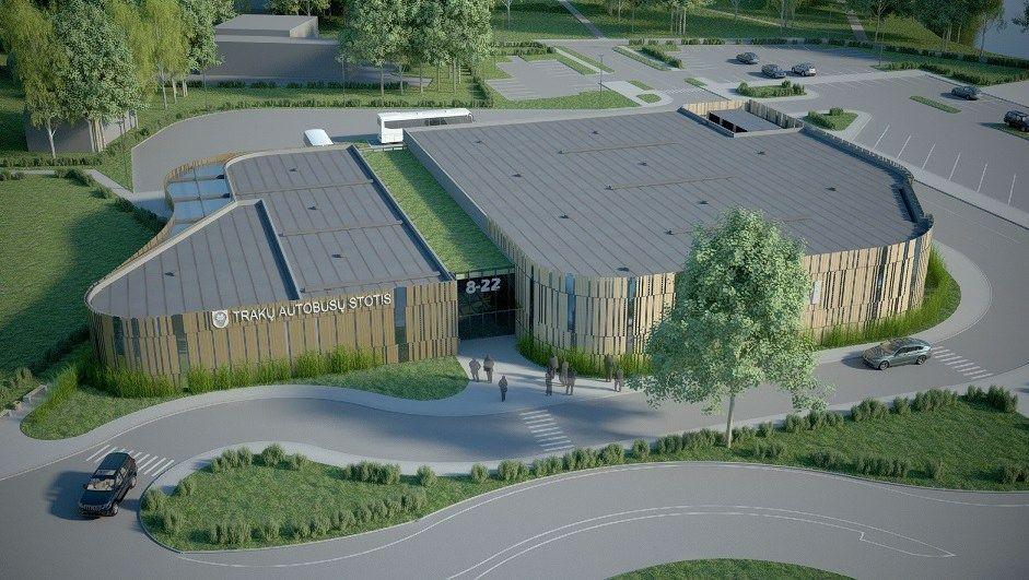 Už 3 mln. Eur bus rekonstruota Trakų autobusų stotis