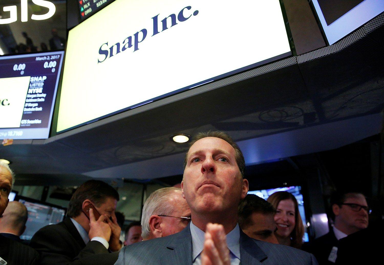 """""""Snap"""" nesustoja ir antrąją prekybos sesiją"""