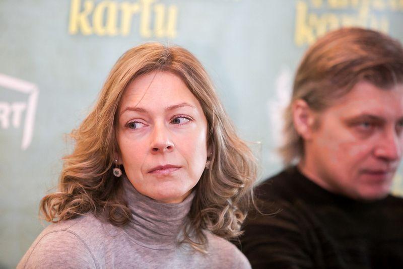 """Pristatant Linos filmą """"Amžinai kartu"""". Gabija Jaraminaitė ir Dainius Gavenonis. """"Scanpix"""" nuotr."""