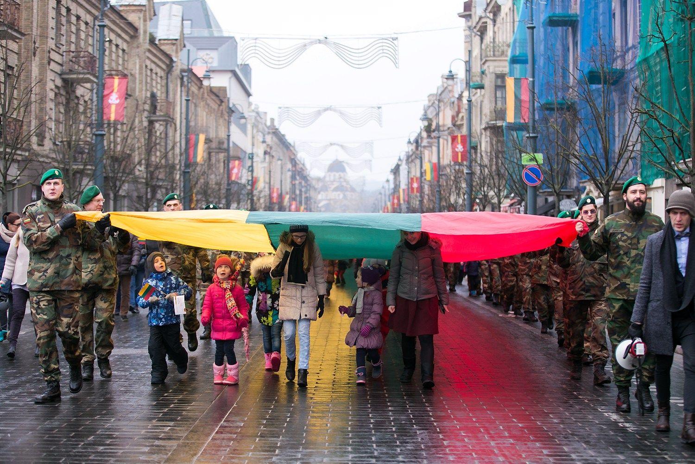 Akimirkos iš Kovo 11-osios šventės Vilniuje