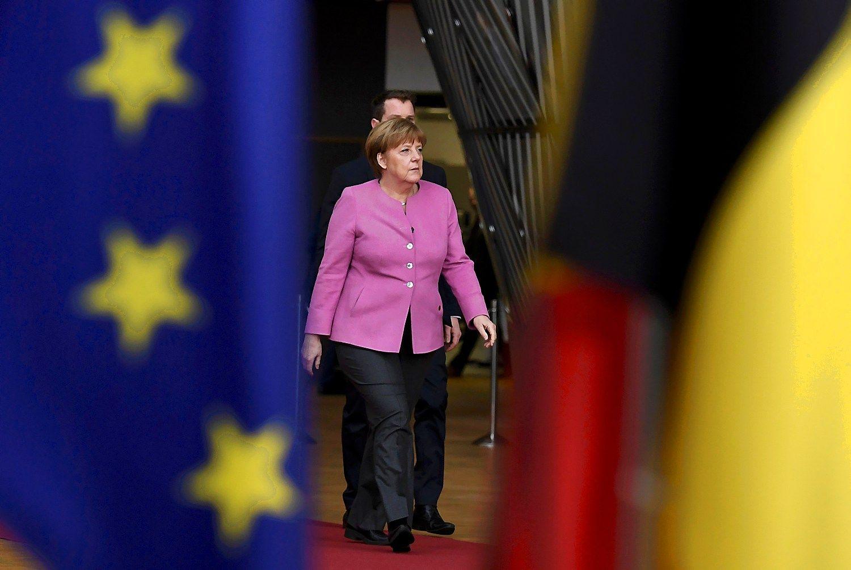 "Vokietijos kanclerė Angela Merkel. Dylano Martinezo (""Reuters"" / ""Scanpix"") nuotr."