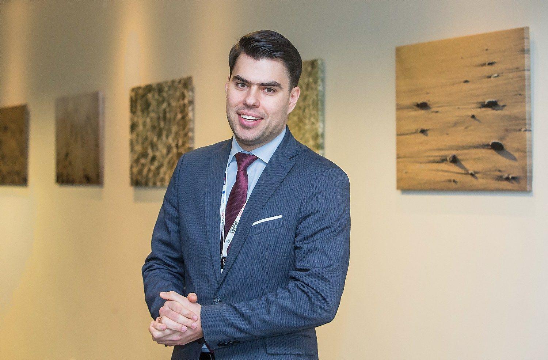 """Arnoldas Antanavičius, UAB """"Citus"""" Investicijų ir analizės skyriaus vadovas. Juditos Grigelytės (VŽ) nuotr."""