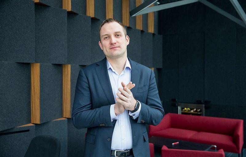 """Simonas Gustainis, privataus ir rizikos kapitalo fondų valdymo UAB """"BaltCap"""" vadovaujantis partneris. Juditos Grigelytės (VŽ) nuotr."""