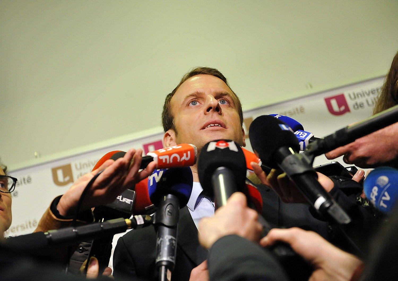 Problemos ir Prancūzijos rinkimų favoritui: prokurorai tiria Macrono kelionę į JAV