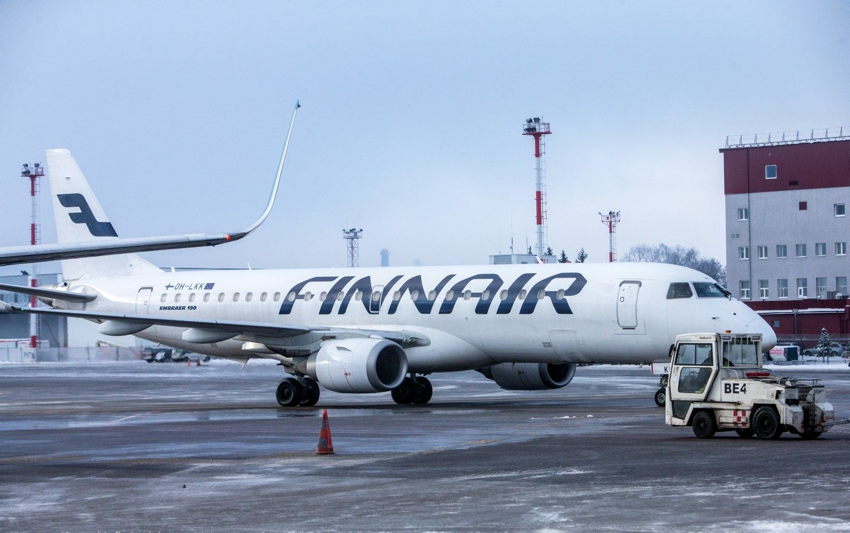 """""""Finnair"""" atšaukia 90 skrydžių, tarp jų – ir Vilnius"""