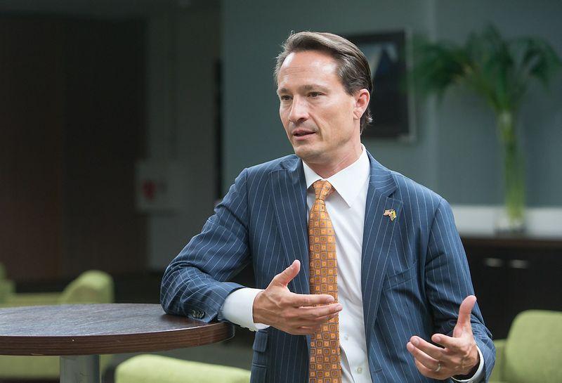 Ericas Stewartas, Amerikos-Lietuvos verslo tarybos pirmininkas. Juditos Grigelytės (VŽ) nuotr.