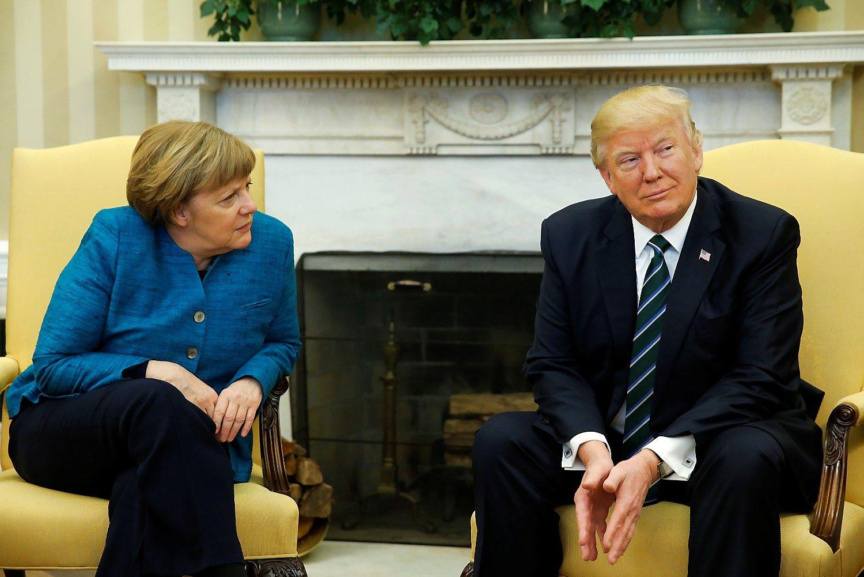 Merkel ir Trumpo susitikimo ašis – padėtis Ukrainoje