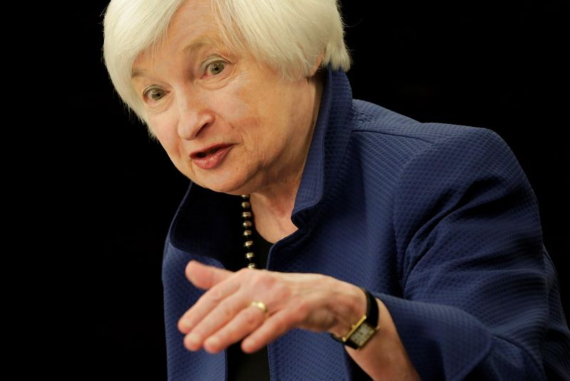 "Federal Reserve Chair Janet Yellen. Yuri Gripas (""Reuters"" / ""Scanpix"") nuotr."