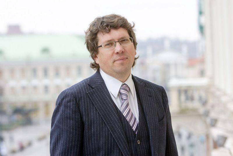 """Mindaugas Kulbokas, nekilnojamojo turto paslaugų bendrovės """"Newsec Baltics"""" (Newsec/Re&Solution) tyrimų ir analizės paslaugų grupės vadovas Baltijos regionui. Vladimiro Ivanovo nuotr."""