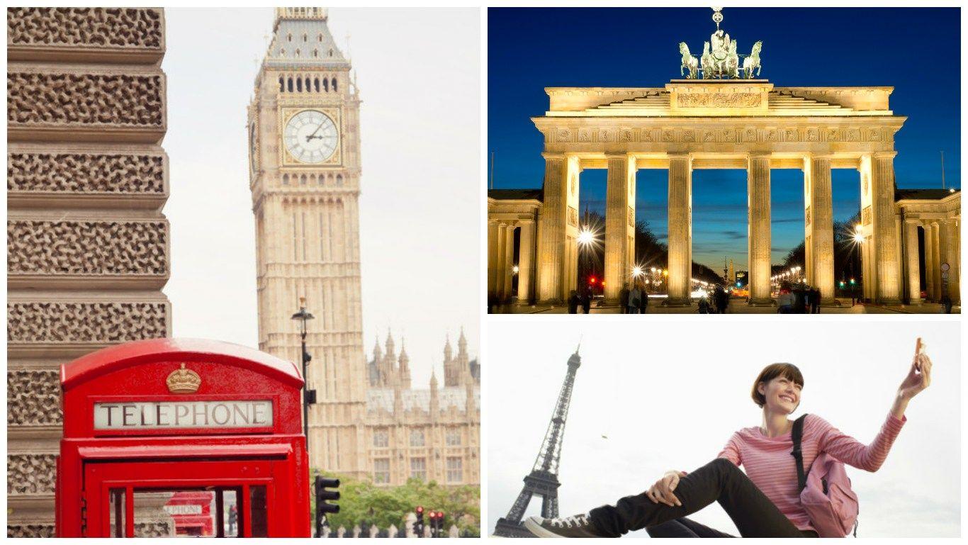 Populiariausi miestai Europoje:kur daugiausia vyksta turistai