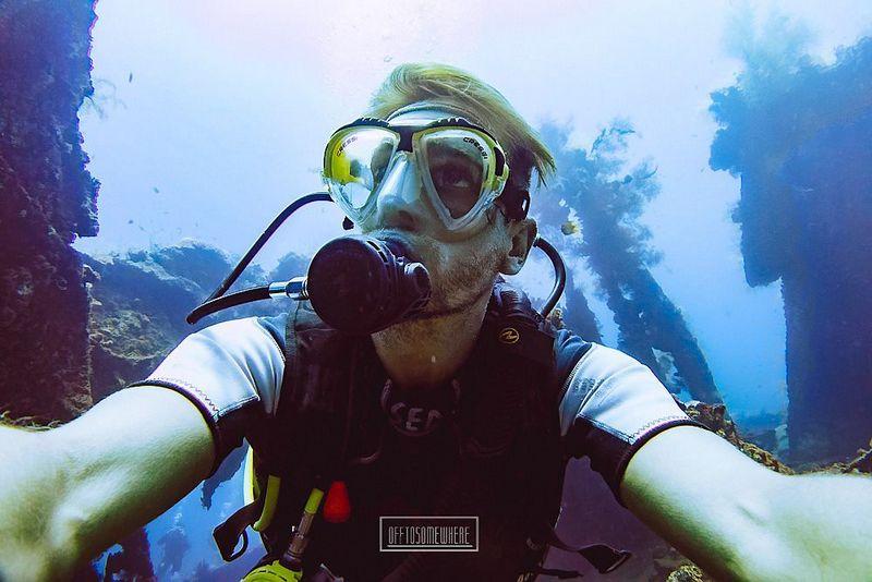 """""""Vandenynas yra tai, ko aš noriu, ko man reikia"""", – pasakoja Danas Macijauskas. Asmeninio archyvo nuotr."""