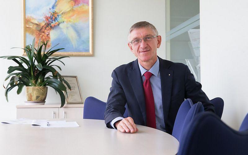 """Genadijus Makuševas, """"Grant Thornton Baltic"""" direktorius tikisi, jog susijungimas leis teisines, mokesčių, apskaitos, audito, finansines paslaugas teikti pagal vieno langelio"""" principą. Juditos Grigelytės (VŽ) nuotr."""