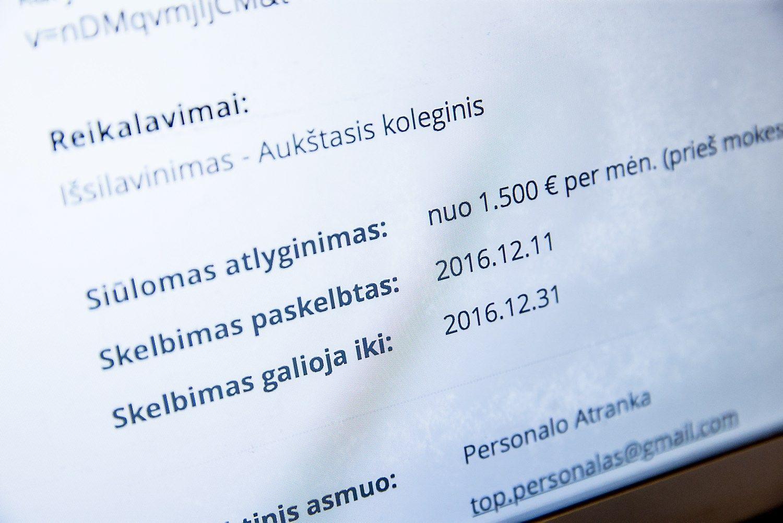 Paskelbtos vasario algos: TOP20 šalies darbdavių atlyginimai