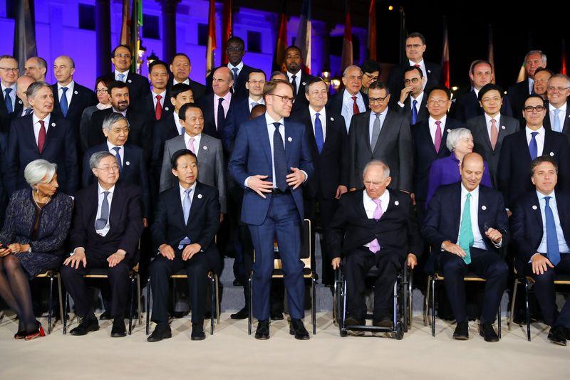 """G20 valstybių finansų ministrų ir centrinių bankų vadovų susitikimas Vokietijoje. Kajaus Pfaffenbacho (""""Reuters"""" / """"Scanpix"""") nuotr."""