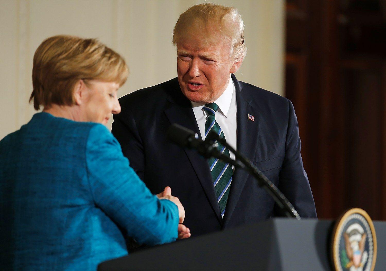 Trumpas ir Merkel: daugiau nesutarimų nei bendrumo