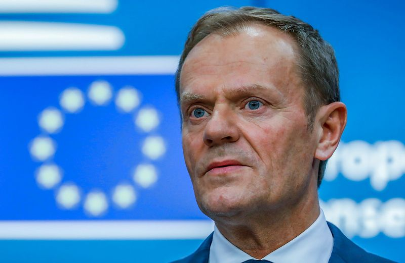 """Donaldas Tuskas, Europos Vadovų Tarybos pirmininkas. Yveso Hermano (""""Reuters"""" / """"Scanpix"""") nuotr."""